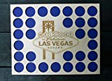 Las Vegas Poker Chip Display Frame Insert, Laser-engraved Vegas logo, Poker Player Gift, Vegas poker, natural birch insert, holds 30 Casino chips, Welcome to Fabulous Las Vegas Nevada