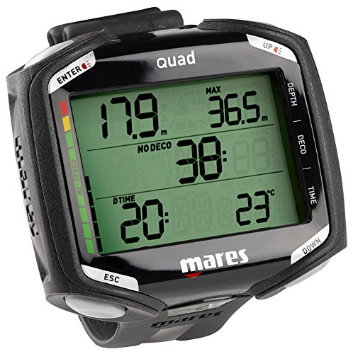 Mares Quad Air Nitrox Dive Computer (Black/Black)