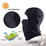 Balaclava Windproof Ski Face Mask Winter Motorcycle Neck for Women Men-Black