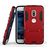 Moto G4 Play Case, Enjoy Sunlight High Impact Resistant Dual Layer Armor Holster With Stand Defender Full Body Protective Hybrid Armor Case for Motorola Moto G Play (2016) [Burgundy]