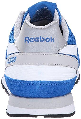 Reebok Hommes Gl 3000 Mesh Chaussure Classique Bleu Sport / Acier / Blanc / Noir