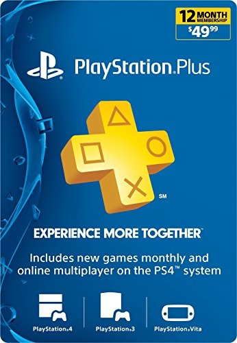 PlayStation Plus: 12 Month Membership [Digital Code] (Best Price For Playstation 4 On Black Friday)