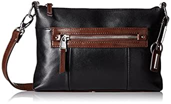 Tignanello City Sleek Crossbody, Black/Dark Brown