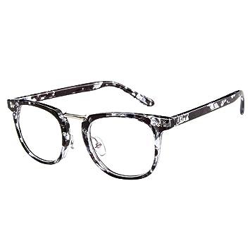 6de45076c7 Forepin® Montures Lunettes de Vue pour Homme et Femme Vintage Cadre  Frame Lentille Claire Unisex