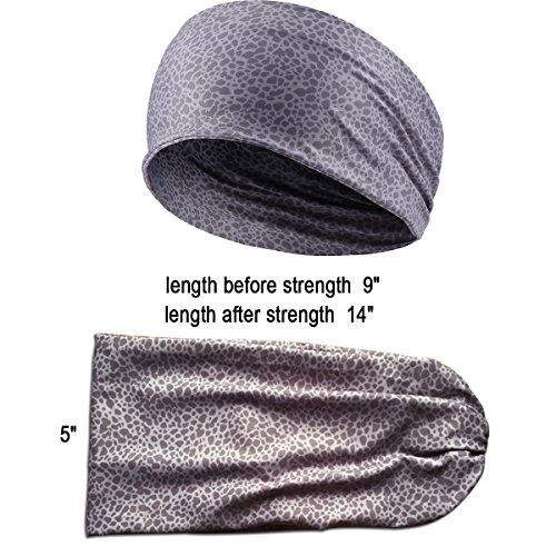 Boho Wide Headbands or Yoga Workout Fitness Running Print Headband Non Slip 3PCS