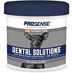 ProSense Plus Peppermint Flavor Dental Solutions Wipes, 90 Count