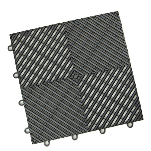 Used Trade Show Display - IncStores Vented Grid-Loc Tiles 12inx12inx1/2in Interlocking Garage Flooring tiles 24pack