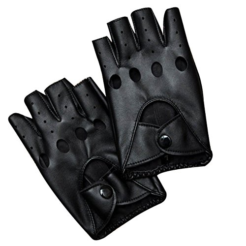 Half Finger Leather Gloves - 3