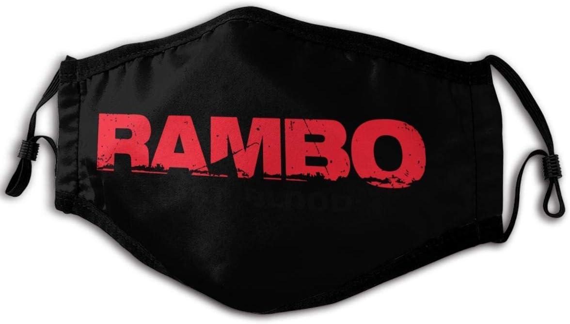 Mundschutz Mundschal Gesichtsschutz Rambo Last Blood Logo Atmungsaktive Staubdichte Wiederverwendbarer Bnadana Balaclava mit Filter