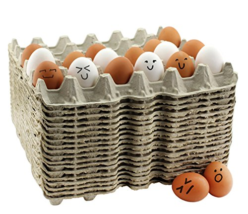 30-Count Egg Flats (18 Trays); Biodegradable Recycled Material Chicken Egg Cartons, Each Holds 30 Eggs (Egg Cartons Wholesale)