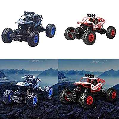 AMOFINY Baby Toys Remote Control Car Drift Off-Road Vehicle Four-Wheel Drive Climbing Big Car High Speed Racing Electric Remote Control Off Road Car Rc High Speed Racing Truck Kids Toys Gift
