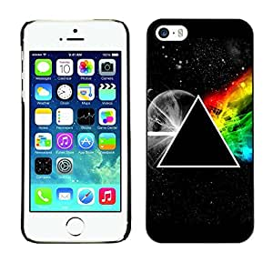 Impact Case Cover with Art Pattern Designs FOR iPhone 5 / 5S Triangle Secret Symbolics Universe Rainbow Betty shop