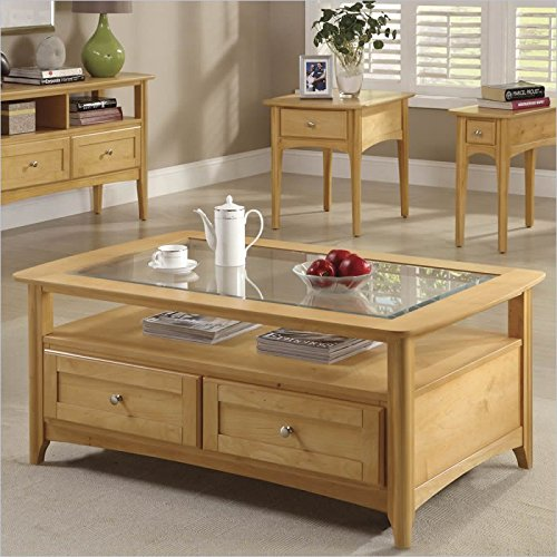 Riverside Furniture Aria Rectangular Cocktail Table in Clear Maple ()