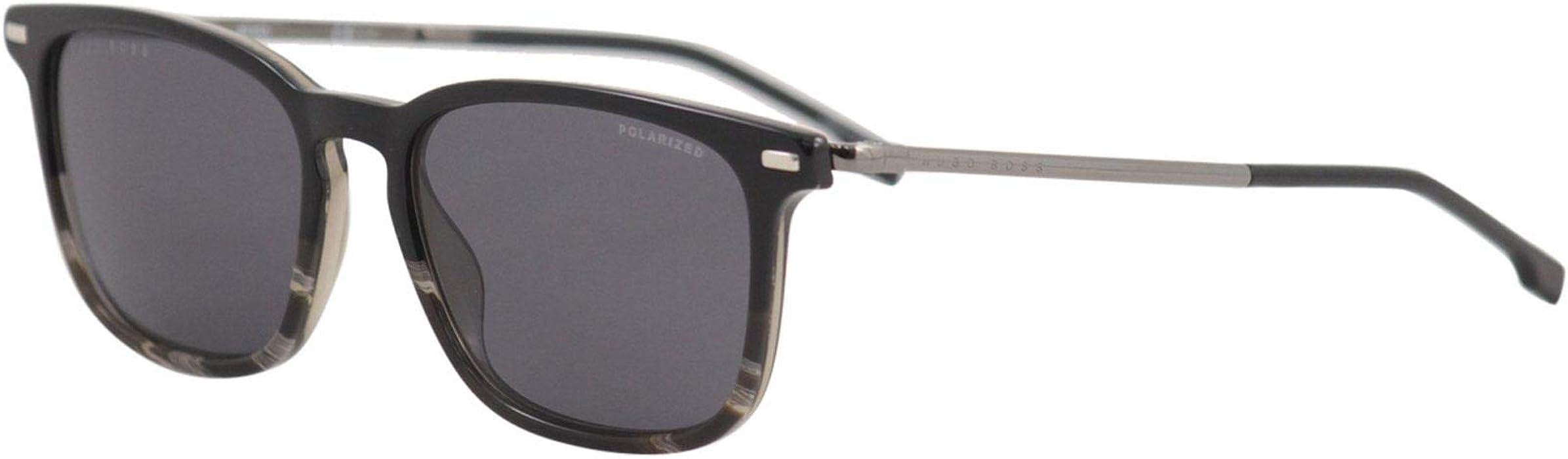 7b1d277b764a Hugo Boss 1020/S Rectangular Men's Sunglasses, 54mm (Black Gray Horn, Gray