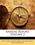 Annual Report, New York (State) Dept. Of Efficiency And, 1145729134