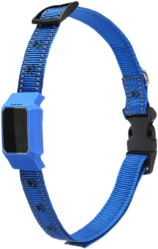 SNAWEN Waterproof Pet Smart Mini GPS Tracker Dog Collar for Pet Dogs Cats Tracing Locator GPS Tracking Device Original Anti-Lost Tracer-Blue