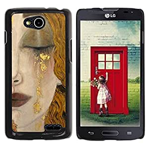 Paccase / SLIM PC / Aliminium Casa Carcasa Funda Case Cover para - Blonde Hair Face Sad Cry Lips - LG OPTIMUS L90 / D415