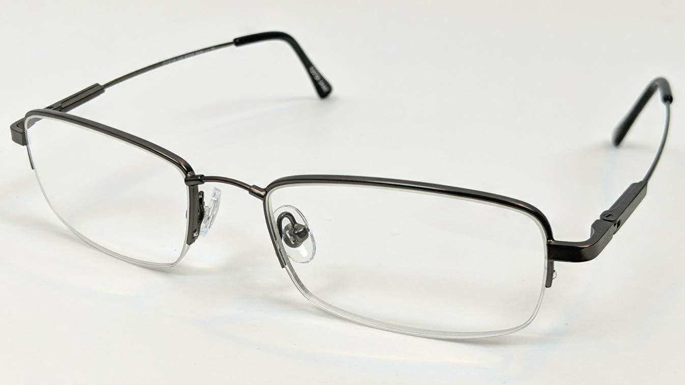 Foster Grant Hyperflex Men's Gun Metal Reading Glasses, 1.75, w/Soft Case