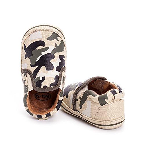 ESTAMICO - Zapatos primeros pasos para niño Army Green
