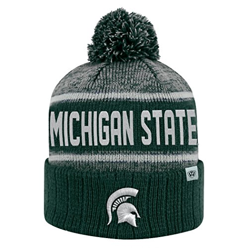 Michigan State Spartans Official NCAA Cuffed Knit Acid Rain Beanie Stocking Stretch Sock Hat Cap by Top of the World 069050