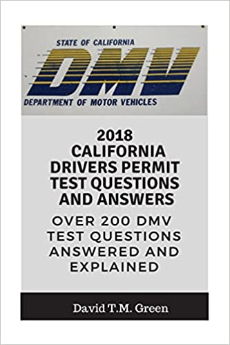 2018 California Drivers Permit Test Questions And Answers