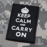 Keep Calm and Carry On Morale Patch - Black