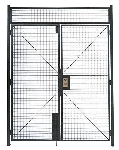 WireCrafters DHD6710 840 Specs Double Hinged Door Woven Wire Partition, Gray
