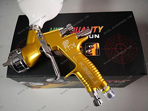 Gti Cup Car - LVMP Sparyer GTI PRO LITE GOLD 1.3mm nozzle w/t cup professional Car Paint Tool Pistol Spray Gun