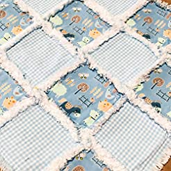 Baby rag quilt mini sized for a lovey or...