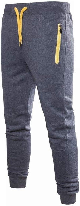 VITryst 男性ドローストリングウエストカジュアルジッパーリラックスフィットトレーニングランニングパンツポケット付き