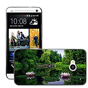 Super Stellar Slim PC Hard Case Cover Skin Armor Shell Protection // M00048165 creative water lilies aero // HTC ONE M7