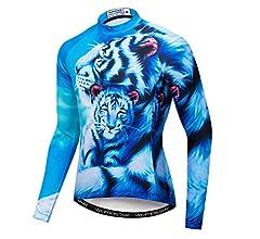 Qianliuk Lobo Tigre León Impreso Ciclismo Jersey con ...