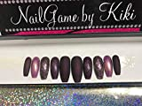 Rum Raisin Hand Designed Press-on Glue-on Nails Custom Nails False Nails Fake Nails Coffin Nails Handmade Nail Set