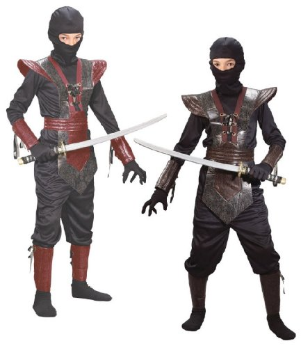 Leather Ninja Fighter Costume - Small