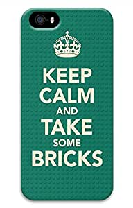 Keep Calm And Take Some Bricks Cover Case Skin for iPhone 5 5S Hard PC 3D