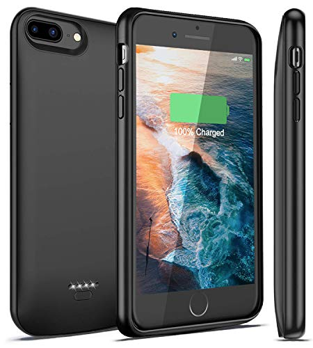 iPhone 7 Plus / 8 Plus Battery Case, 5500mAh Rechargeable Charging Case Charger for Apple 8 Plus / 7 Plus, Best Extended Power Backup Case Juice by iBatrycas (Compatible Lightning Headphones)