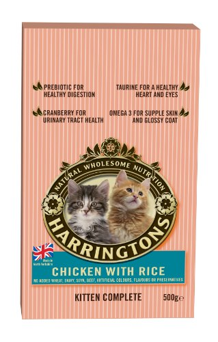 Harringtons Complete Kitten Chicken with Rice 500 g (Pack of 8)