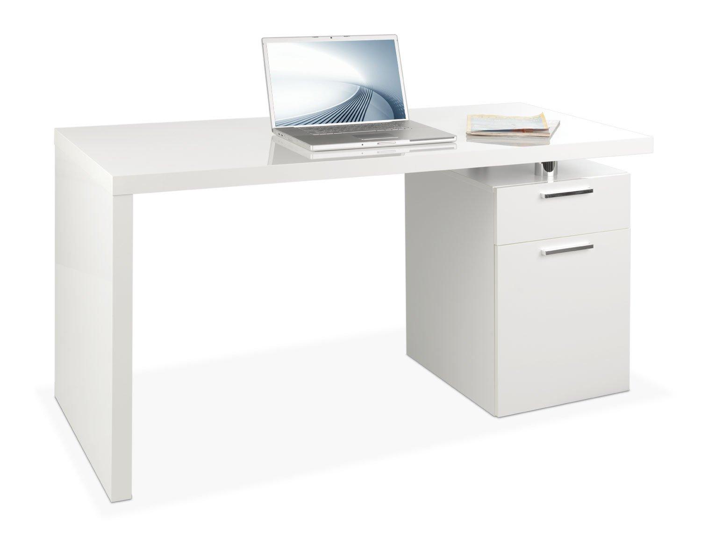 Schreibtisch weiß mit schubladen  Schreibtisch Computertisch Arbeitstisch FABRIZIO | Hochglanz Weiß ...