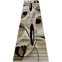 Modern Beige Rug Runner 32 In. X 10 Ft. #457