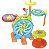 Multifunctional Electronic Drum set with microphone and stool - baby birthday gift for 1 year baby boy girl or 2 year baby girl boy or 3 year old baby boy girl, Educational Musical toys for toddlers