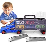 Gbell 1:18 Truck Toy with 12 Cars for 3-5 Year Old Boys,Portable Container Car Gift Kids Educational...