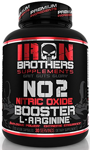 Nitric Oxide Supplements NO2 Booster Pre workout with Fermented L-Arginine Increase Muscle Pumps Blood Flow Energy Strength Endurance -120 Veggie Capsules-Citrulline Best Men Natural Boost 30 Servings