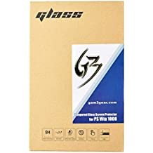 Gam3Gear Front Screen Tempered Glass with Rear Plastic Film Protector for PS Vita 1000