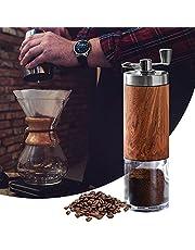 Kaffekvarn, handvevkvarn, liten manuell kaffekvarn i rostfritt stål, även för malning av spannmål, nötter, tabletter, kryddor och ris, perfekt för resor, vandring, utomhusresor och backpacking
