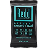 Redd Gluten Free Plant Based Superfood Energy Bar, Oatmeal, 12 Bars (Packaging May Vary)