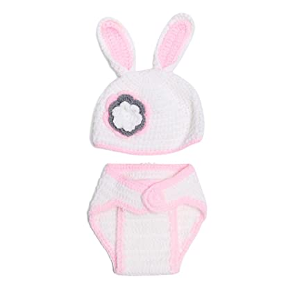 Amosfun Ropa de Fotos de Bebé de Conejito con Sombrero Disfraz de ...
