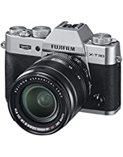 Alleen Fujifilm X-T30 Lichaam, Fujifilm X-T30 & XF 18-55mm lens, ZILVER, Fujifilm X-T30 with XF 18-55mm