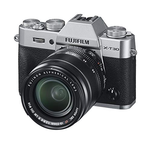 Fujifilm X-T30 Mirrorless Digital Camera, Silver with Fujinon XF18-55mm F2.8-4 R LM Optical Image Stabiliser Lens kit