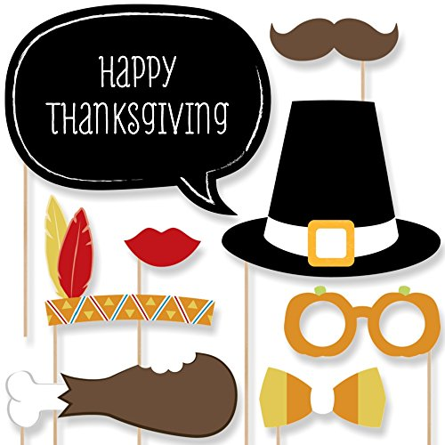 Give Thanks - Thanksgiving Party Photo Booth Props
