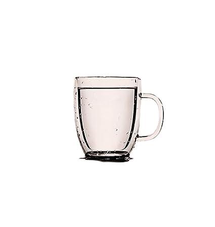 De Alta Temperatura de Doble Capa de Engrosamiento con Mango de Vidrio Transparente Leche de café